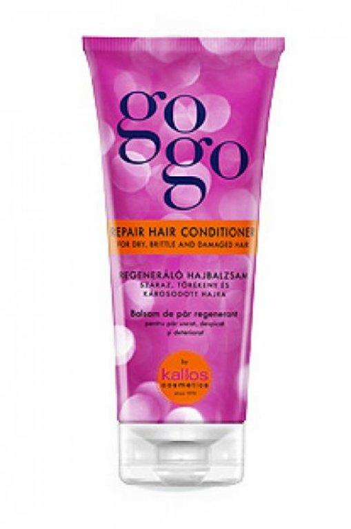 KALLOS GOGO REPAIR HAIR CONDITIONER - kondicionér na suché, lámavé a poškodené vlasy 200 ml DARČEK