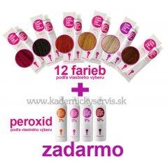 Akce na barvy KJMN 12 +1 - peroxid kjmn 1000 ml - ZDARMA