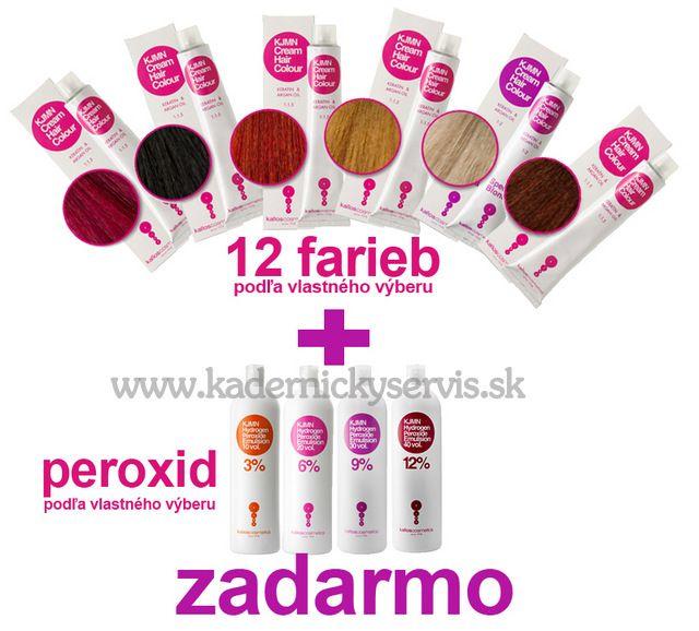 Akcia na farby KJMN 12 +1 - peroxid kjmn 1000 ml - ZDARMA