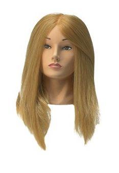 Cvičná hlava Jessica , syntetické vlasy 40-50 cm, blond