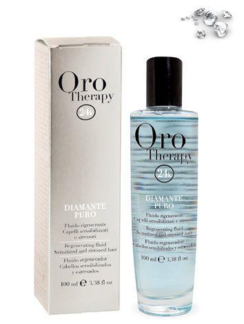 Fanola Oro Therapy DIAMANTE PURO - regeneračný fluid na citlivé a zaťažované vlasy, 100 ml