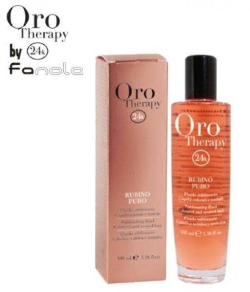 Fanola Oro Therapy RUBINO PURO - rozjasňujúce sérum na farbené a chemicky ošetrované vlasy, 100 ml