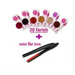 Akce na barvy KJMN 20 + mini flat iron