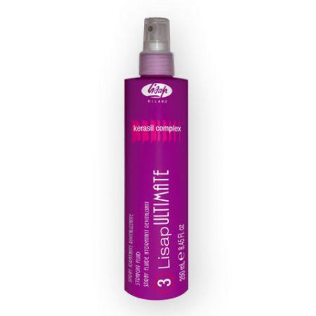 Lisap Ultimate STRAIGHT FLUID - fluid na vyhladenie vlnitých vlasov, 250 ml