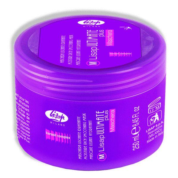 Lisap ULTIMATE MASK PLUS -  hydratačná, uhladzujúca maska na uhladenie vlasov, 250 ml