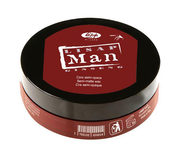 Lisap Man Semi Matte Wax - polomatný modelovací vosk, 100 ml