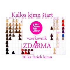 Akce na barvy Kallos KJMN START - vzorník barev ZDARMA