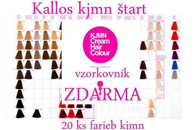 Akcia na farby Kallos KJMN ŠTART - vzorkovník farieb ZDARMA