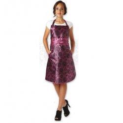 Olivia Garden Lace Apron Plum - kadeřnická zástěra