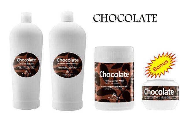 Chocolate set - šampon, maska, kondicionér