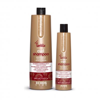 Echosline Seliár CURL shampoo - výživný šampón na kučeravé vlasy