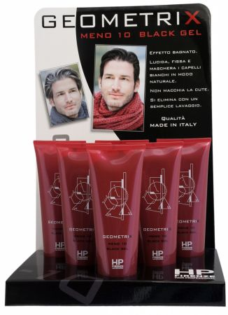 Geometrix MENO 10 Black Gel - gelová maska na vlasy pro muže - doplňuje pigment, 250 ml
