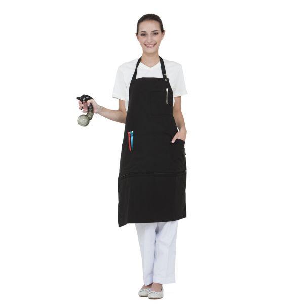 Wako zipper apron 5808 - kadeřnická zástěra, dlouhá s kapsami