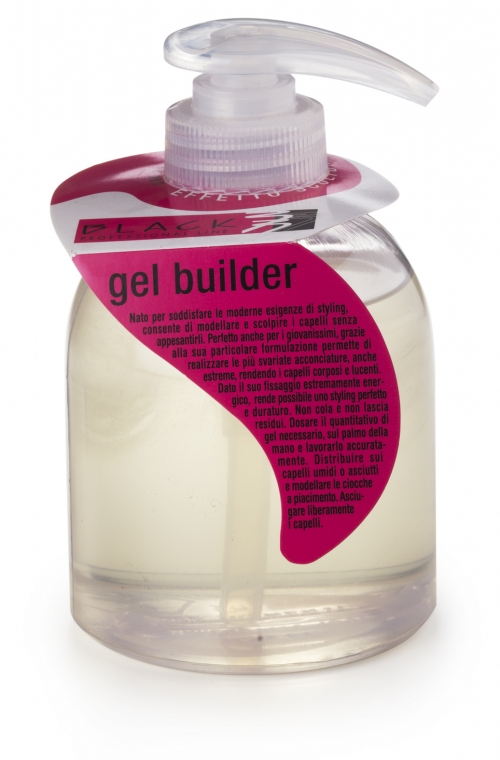 Black Gel Builder - gél na vlasy, 250ml