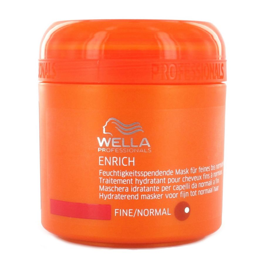 Wella Professionals Enrich Fine/Normal - hydratační maska pro jemné vlasy - objemová 150 ml