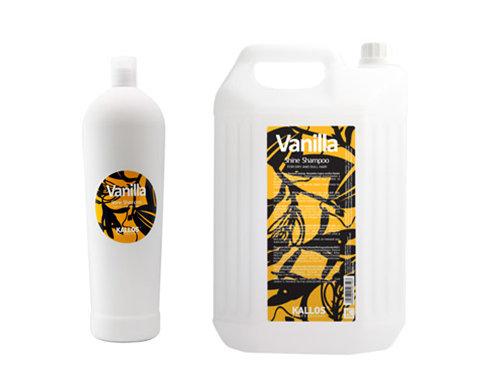 Kallos Vanilla Shine shampoo - vanilkový šampón na vlasy s leskom