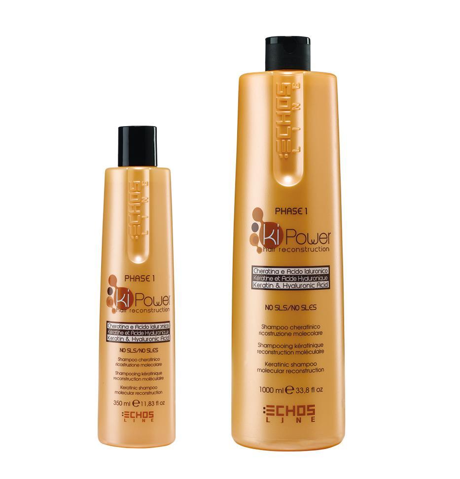 Echosline kiPower shampoo - šampón na vlasy s keratínom a kyselinou hyalurónovou