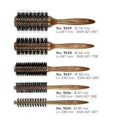 Hercules Sägemann - kulatý kartáč na foukání vlasů, tmavé dřevo