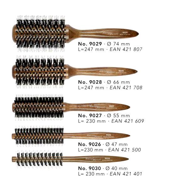 Hercules Sägemann - okrúhla kefa na fúkanie vlasov, tmavé drevo