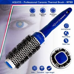 Kiepe AQUOS Ceramic Thermal Brush - keramická kefa na vlasy, hranatá