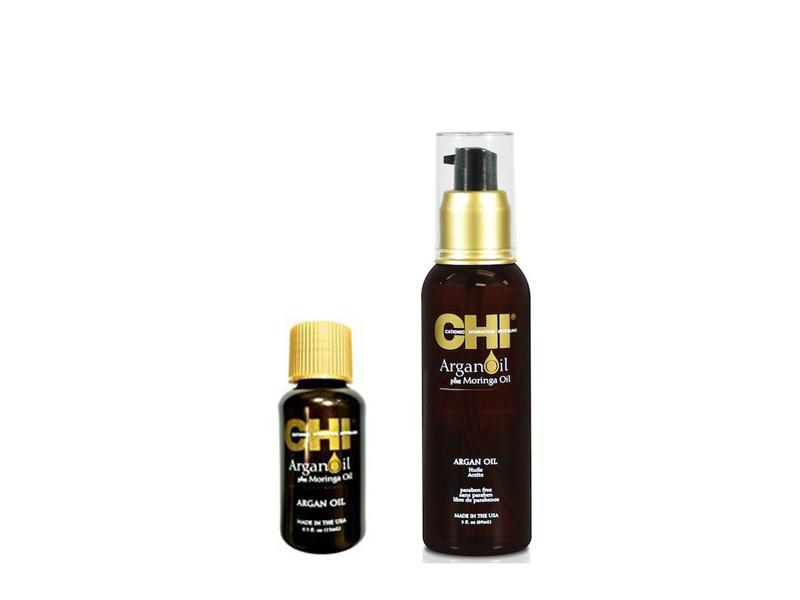CHI Argan plus Moringa oil - argánový olej na + Moringa Oil na vlasy