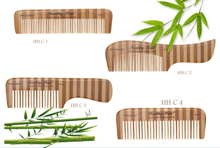 Olivia Garden Healthy Hair Bamboo Comb - hrebene na vlasy z bambusu