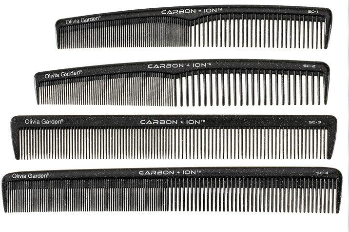Olivia Garden SC Carbon + ION - profesionální kadeřnické hřebeny