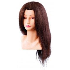 Cvičná hlava ELLEN 7000798, 100%, lidské vlasy, hnědý odstín, 40 cm