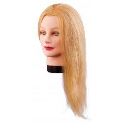 Cvičná hlava LILLY, 100% lidské vlasy, 40 cm, blond, 7000833