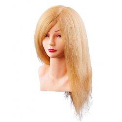 Cvičná hlava LOUISA 7000799, 100% prírodné ľudské blond vlasy, postupný strih, 40 cm