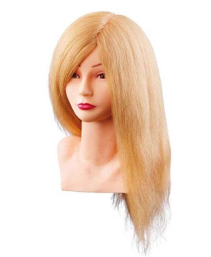 Cvičná hlava LOUISA 7000799, 100% přírodní lidské blond vlasy, postupný strih, 40 cm