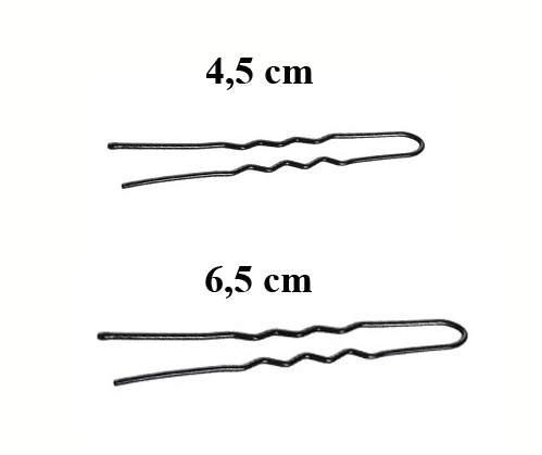 Vlásenky do vlasov profilované, farba čierna