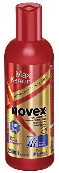 Novex Max Liquid Keratin - koncentrát na vlasy s brazílskym keratínom, 250 ml