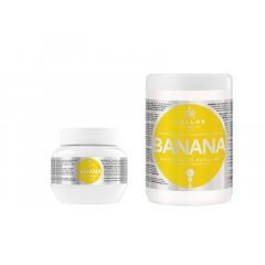 Kallos kjmn BANANA mask - posiľujúca maska na vlasy s olivovým olejom a vitamínmi