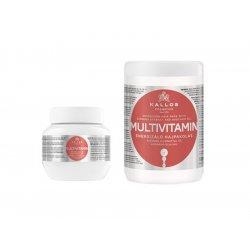 Kallos kjmn Multivitamin Mask - Energizující regeneračně - hydratační maska na vybledlé, oslabené a poškozené vlasy