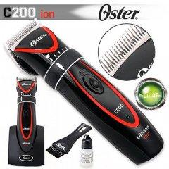 Oster C200 ion - profesionálny strojček na vlasy s li+ion batériou + Gembird - stlačený vzduch, 400 ml