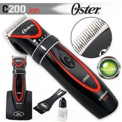 Oster C200 ion - profesionální strojek na vlasy s li + ion baterií + Gembird - stlačený vzduch, 400 ml