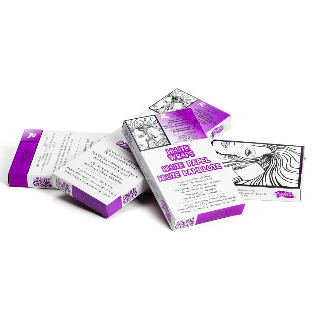 Hi Lite Wraps - špeciálna fólia na melír, 250ks/bal