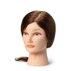 BraveHead Female medium 9860- cvičná hlava, 100% lidské vlasy, 35 - 40 cm
