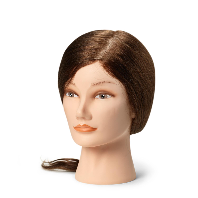BraveHead Female medium 9860- cvičná hlava, 100% ľudské vlasy, 35 - 40 cm