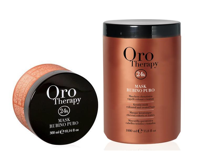Oro Therapy Rubino puro mask - keratínová maska na farbené a namáhané vlasy