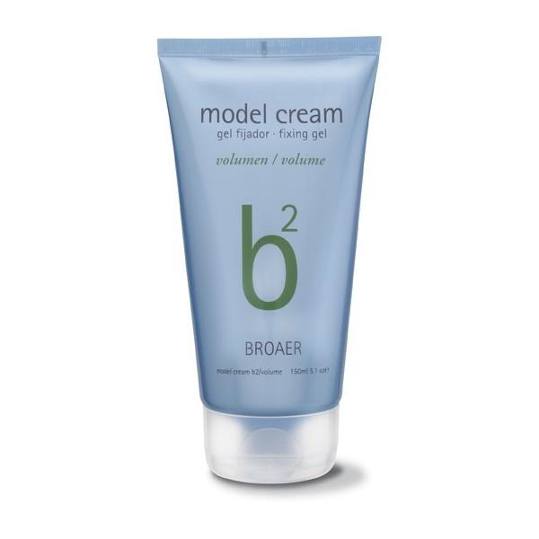 Broaer b2 model cream volumen - modelovací objemový gél na vlasy s mokrým efektom, 150 ml