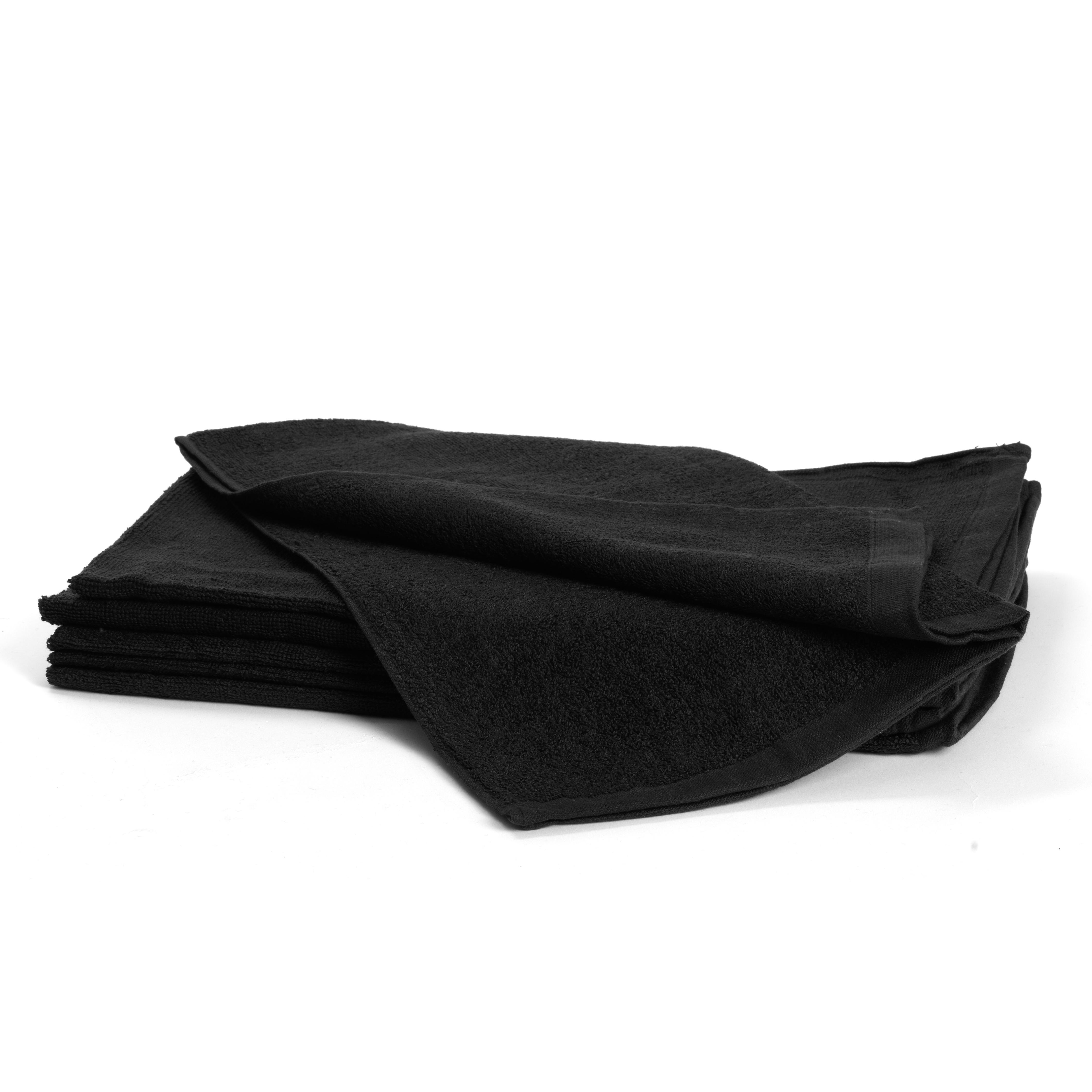 Bleachsafe Towels black 5080 - froté uterák čierny, 50 x 85 cm