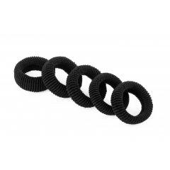 Froté gumička do vlasů, 10 ks černá