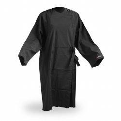 Wako 5695 Client wrap kimono - kimono na stříhání a barvení, černé, na háčky