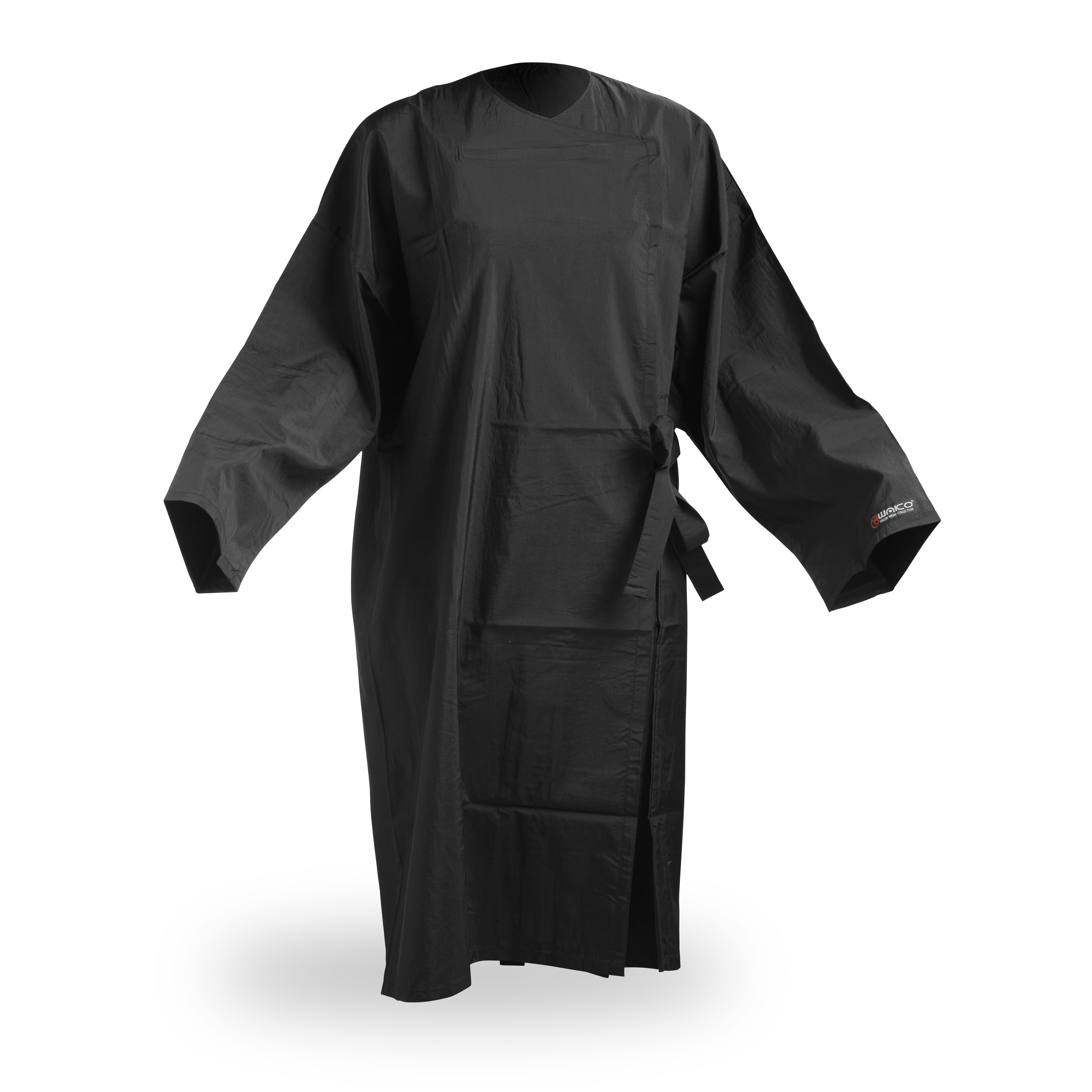 Wako 5695 Client wrap kimono - kimono na strihanie a farbenie, čierne, na háčiky