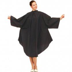 Wako 5670 Cutting dress, black - pláštěnka na stříhání a barvení, černá, na háčky