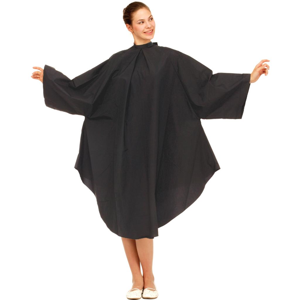 Wako 5670 Cutting dress, black - pláštenka na strihanie a farbenie, čierna, na háčiky