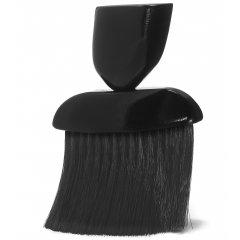 Oprašovák na vlasy dřevěný s umělými štětinami, černý 7847