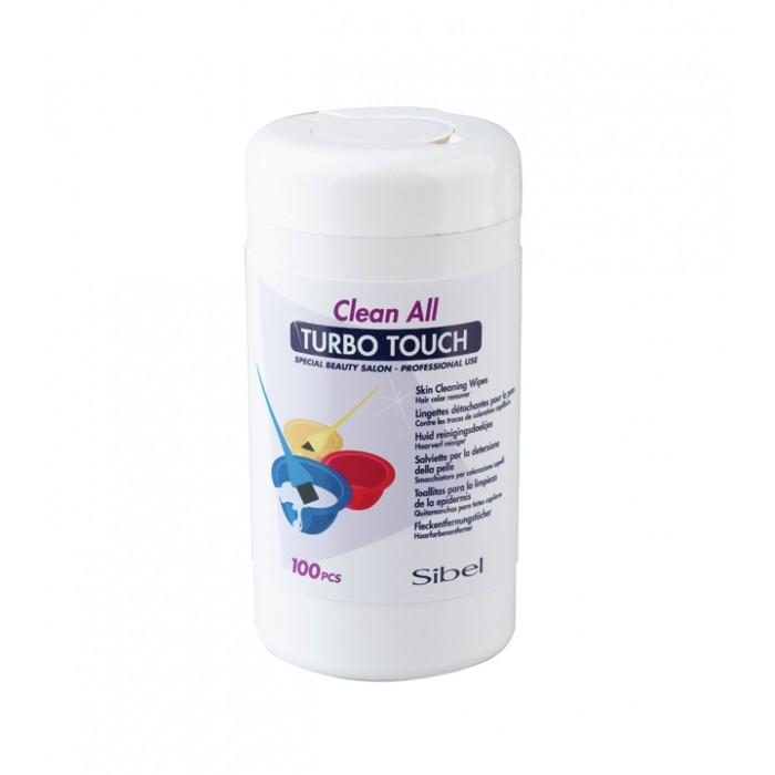 Sibel turbo touch - ubrousky na odstranění barvy z pokožky, 100 ks